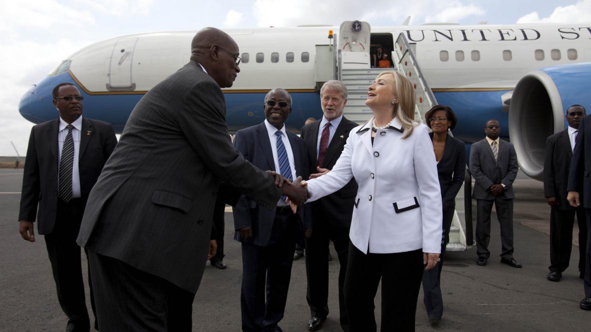 Hillary Clintonová na návštěvě Keni