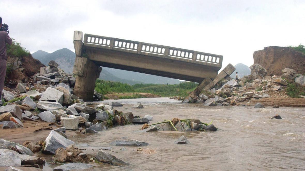 Záplavy v KLDR
