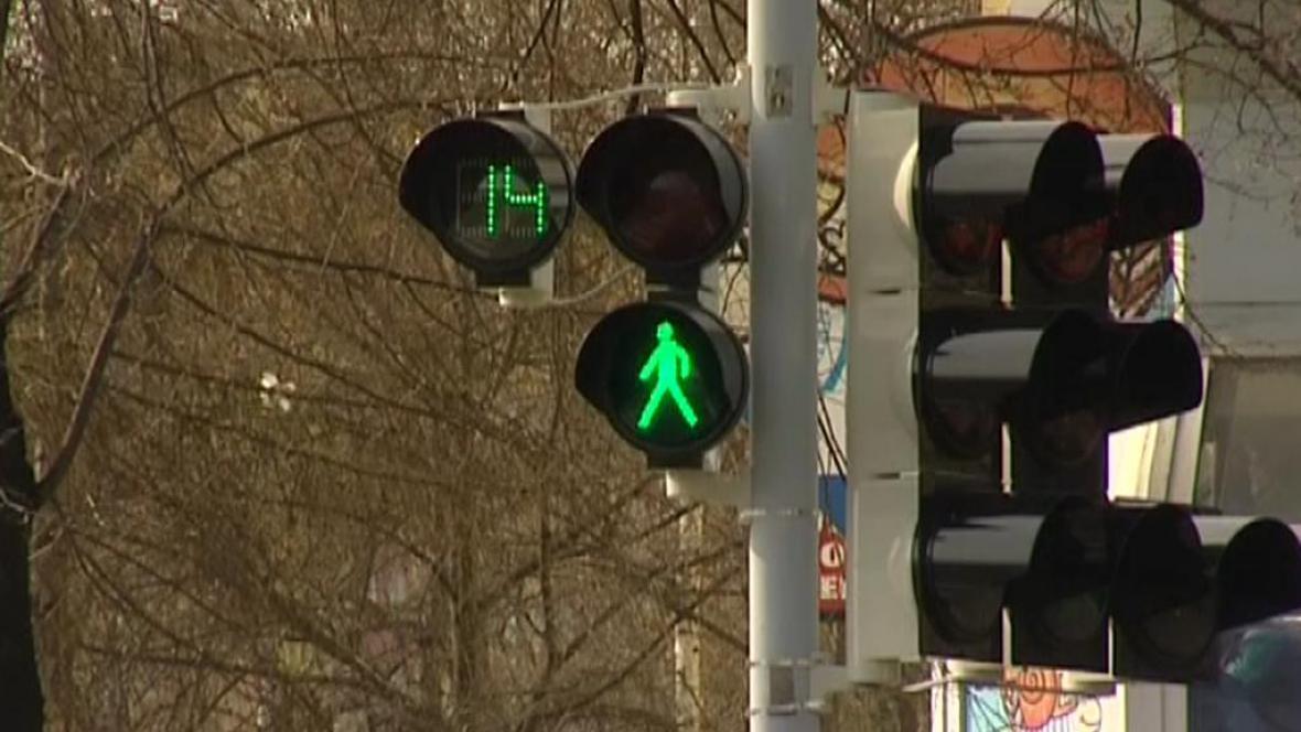 Semafor s časovou signalizací