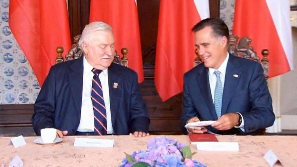 Lech Walesa a Mitt Romney