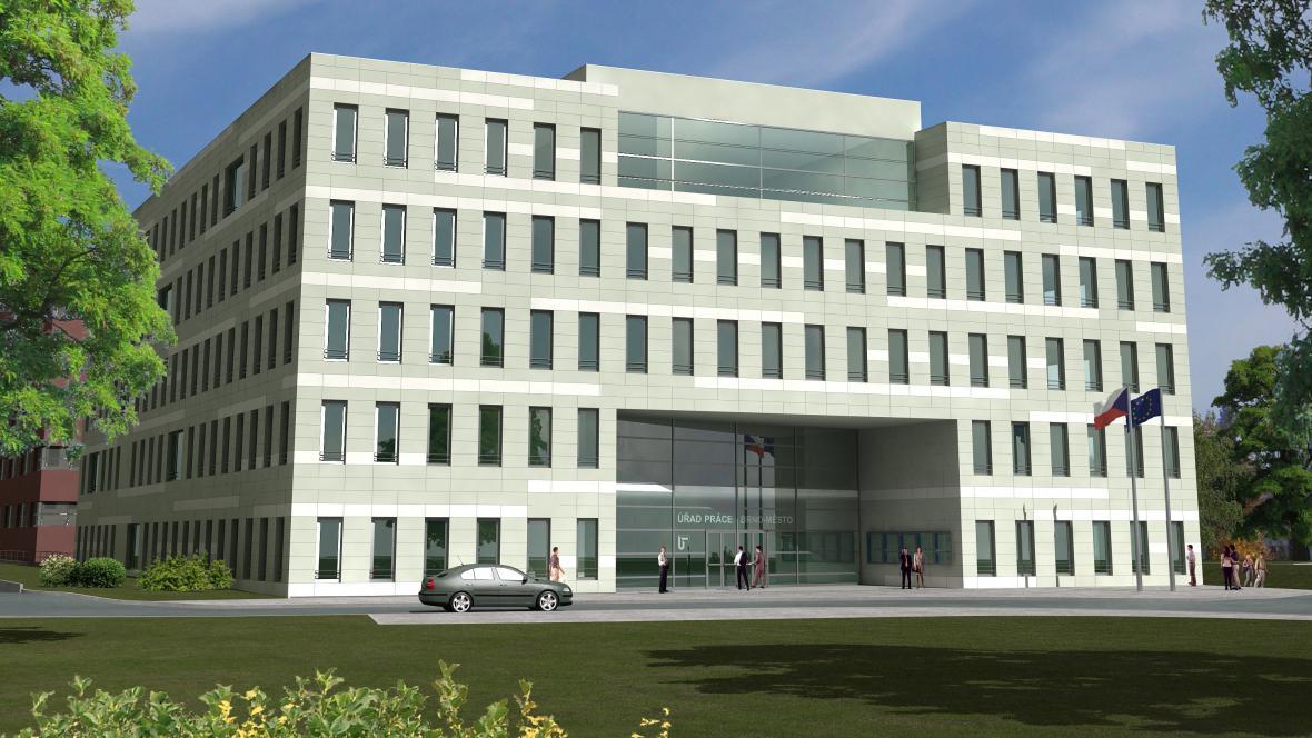 Vizualizace nového sídla Úřadu práce v Brně
