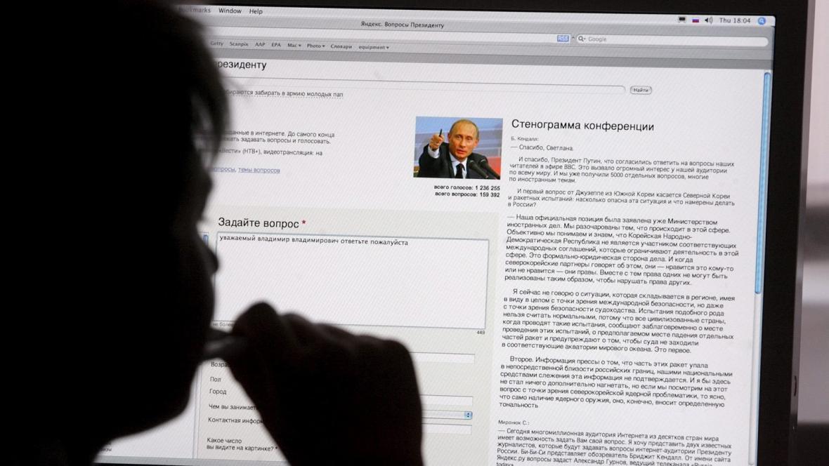 Ruský uživatel internetu