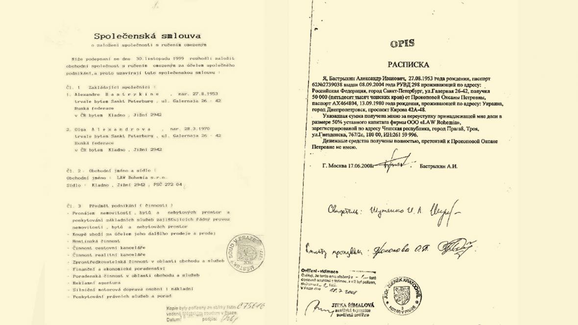 Dokumenty zveřejněné v blogu Alexeje Navalného