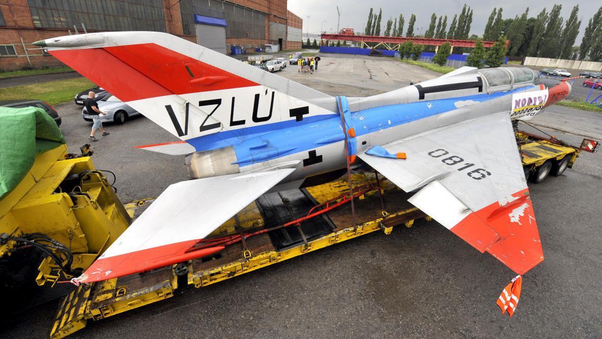 Stíhačka MiG-21 v Ostravě