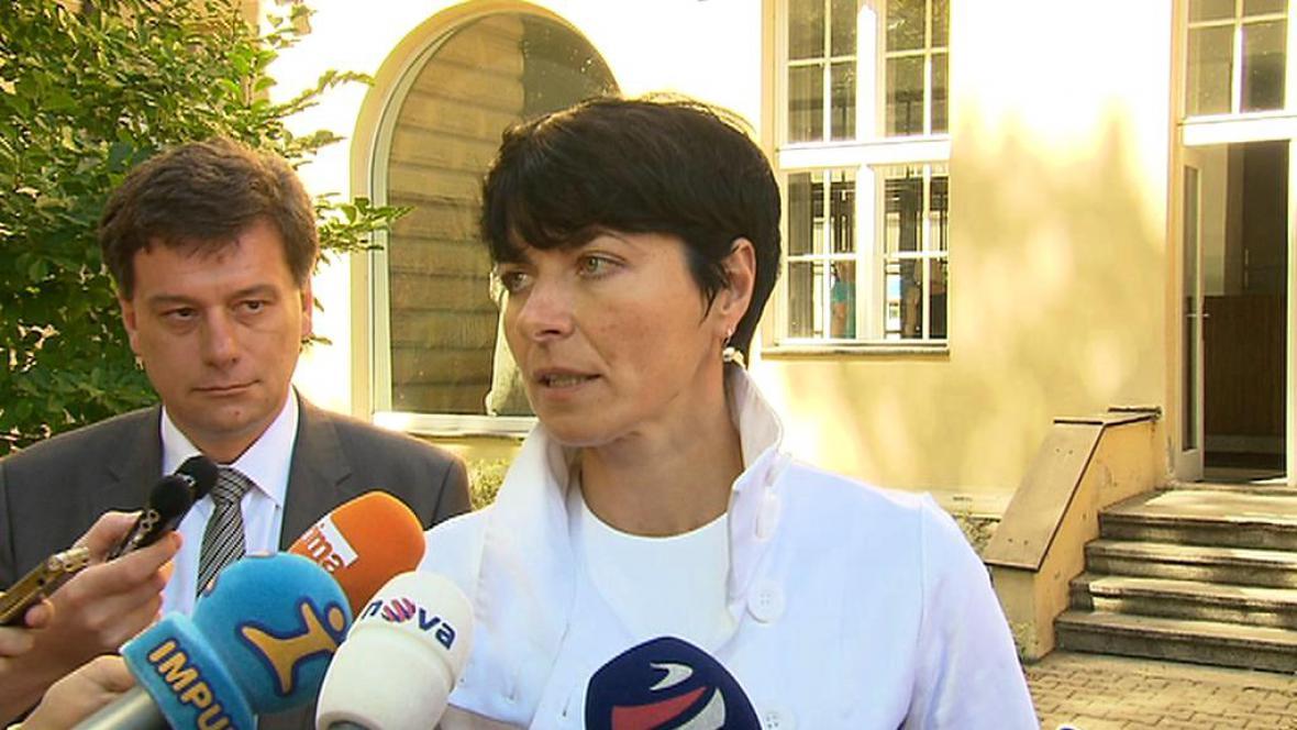 Pavel Blažek a Lenka Bradáčová