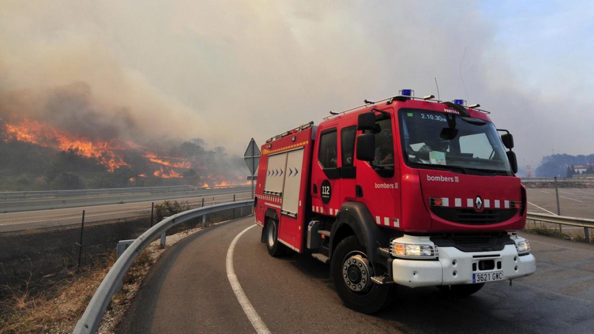 Požár ve Španělsku