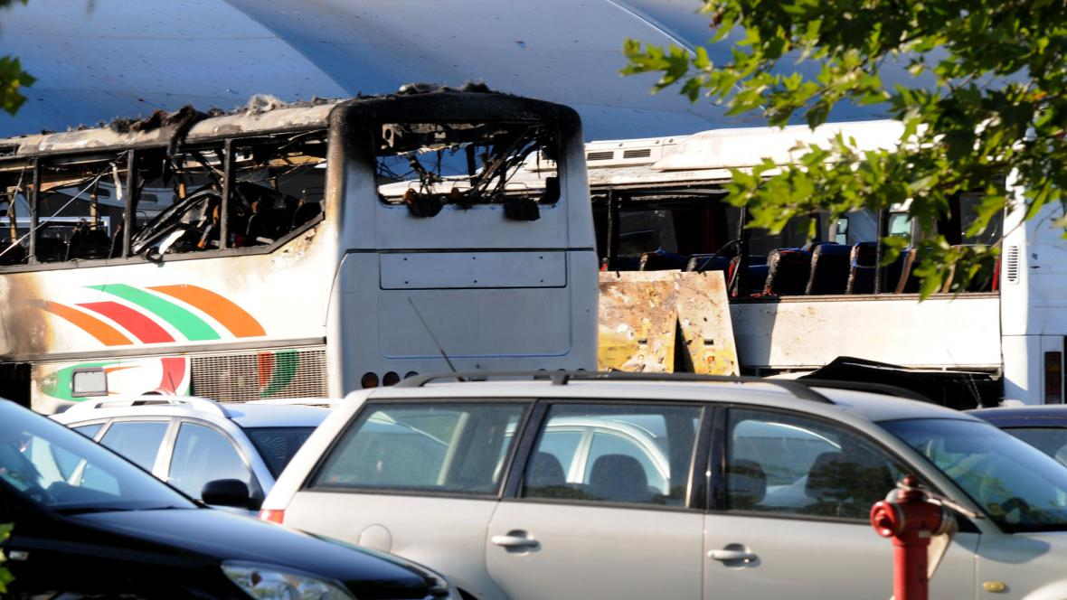 Vybuchlý autobus v Burgasu