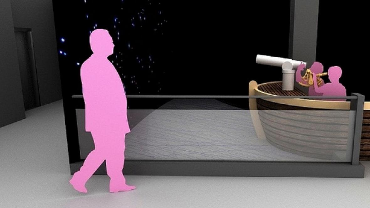 Vizualizace expozice vesmíru v Techmanii