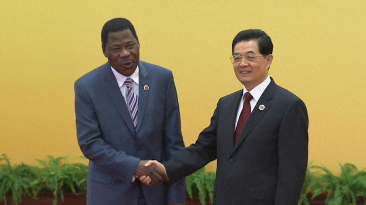 Prezident Jihoafrické republiky Jacob Zuma a čínský prezident Chu Ťin-tchao