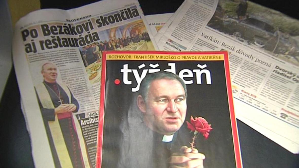 Tisk o odvolání slovenského arcibiskupa