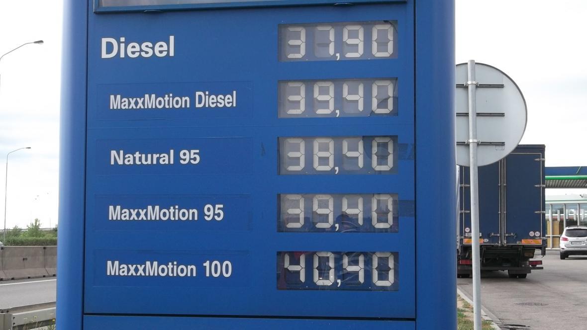 Ceny pohonných hmot (16. 7. 2012)