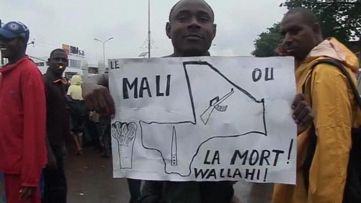 Protesty v sousedních státech Mali