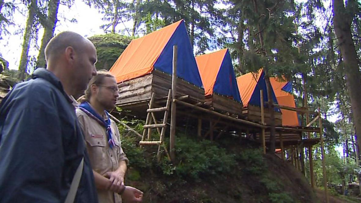 Tábor ve skalním městě