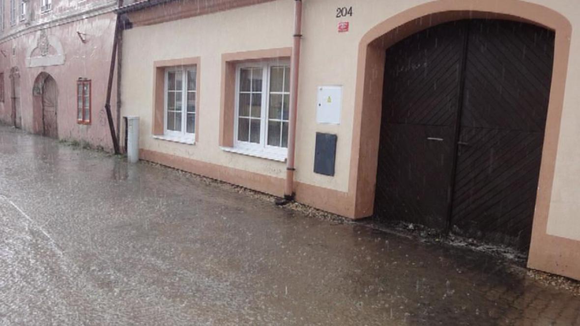 Záplava v Týně nad Vltavou