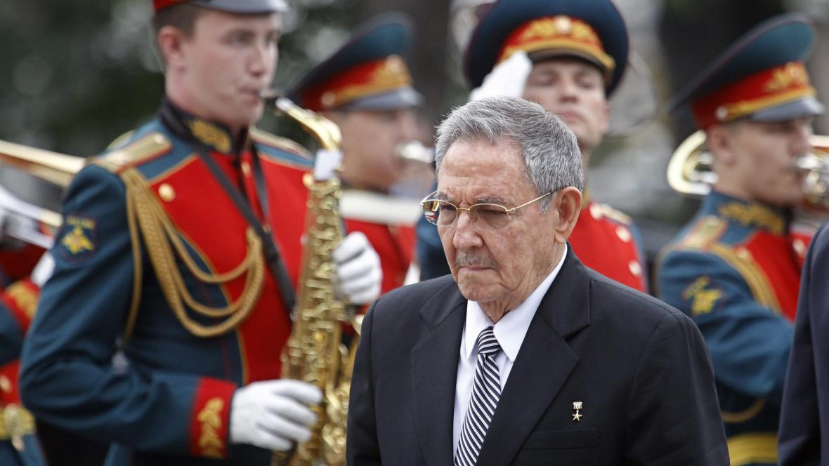 Raúl Castro v Moskvě