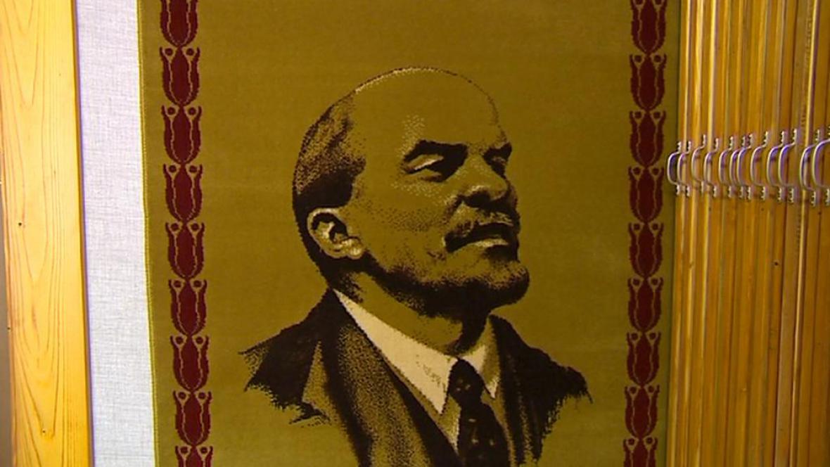 Koberec s portrétem Lenina