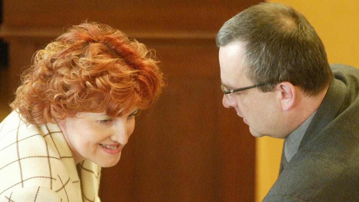 Vlasta Parkanová a Miroslav Kalousek
