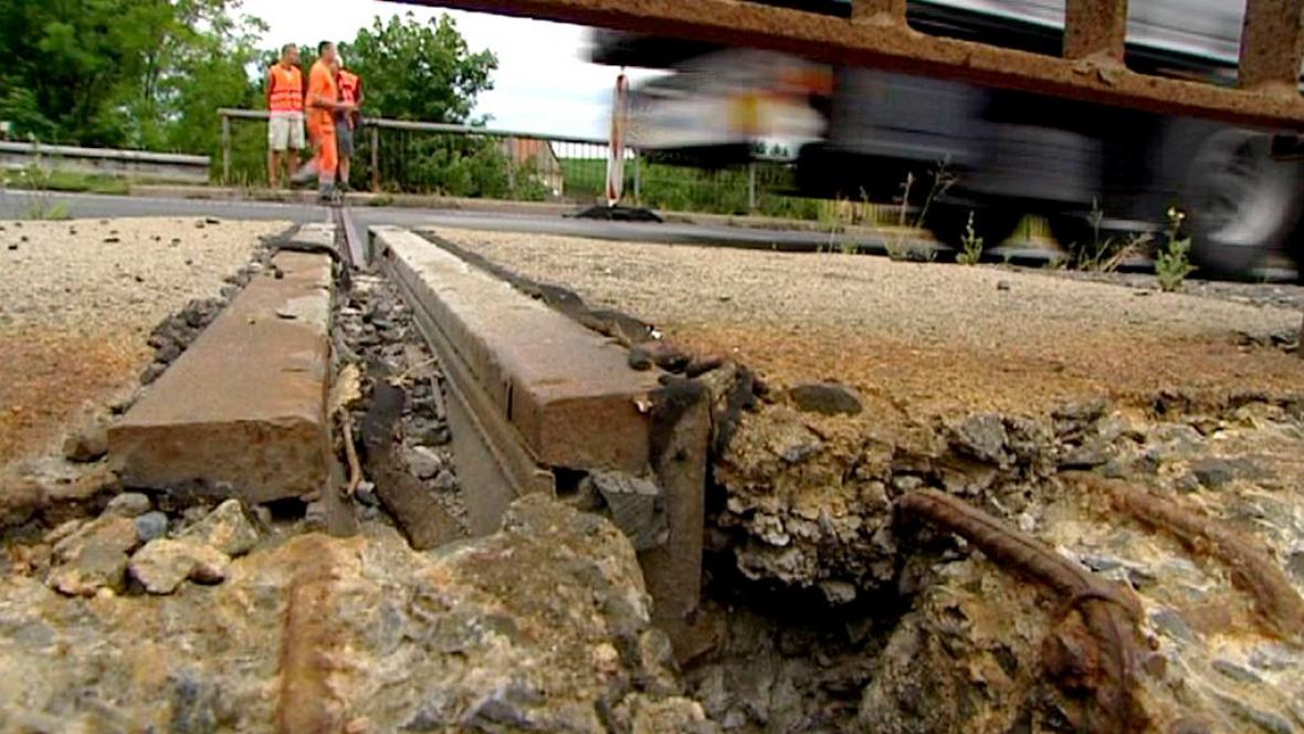 Oprava mostu u Koclířova