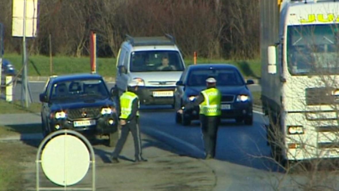 Německá hraniční kontrola