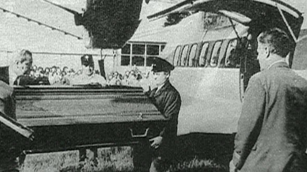 Rakev s ostatky Jána Mičici