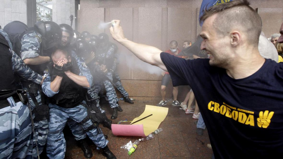 Demonstrace na Ukrajině