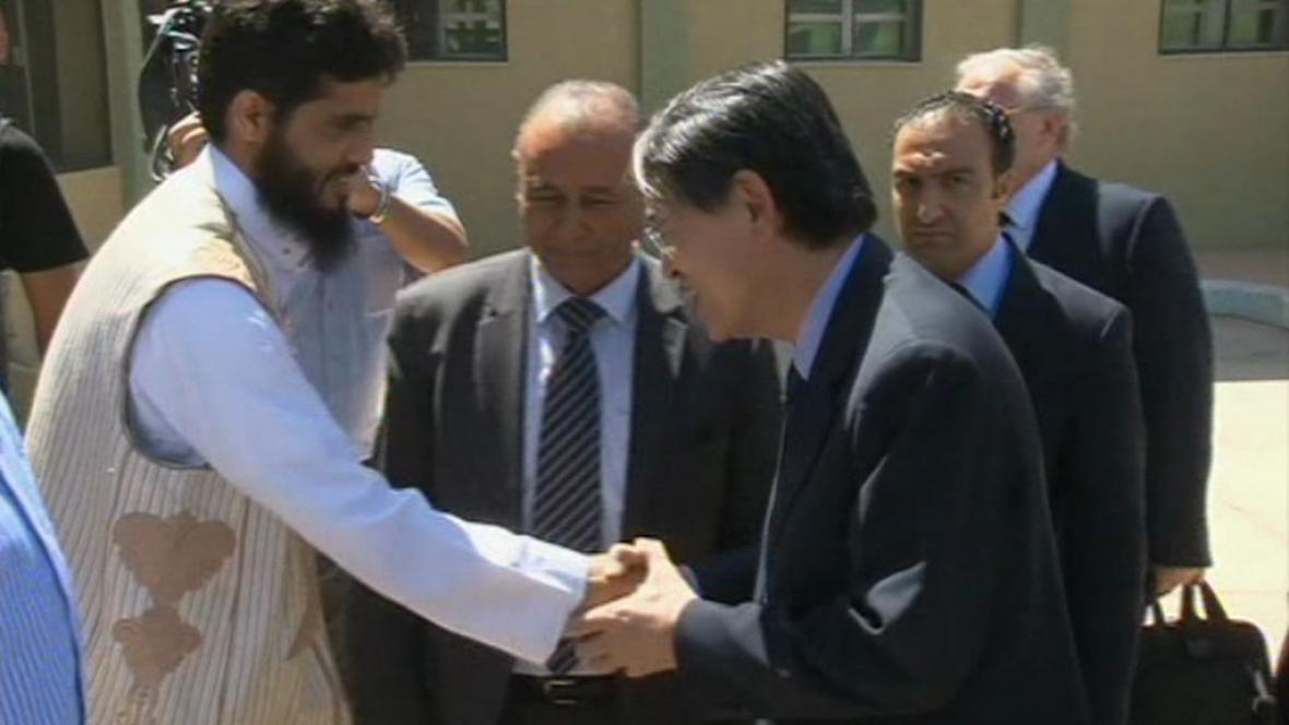 Předseda ICC Sang-Hyun Song v Libyi