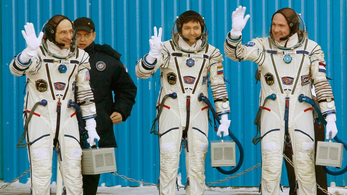 Astronauti Donald Pettit, Oleg Kononěnko a André Kuipers