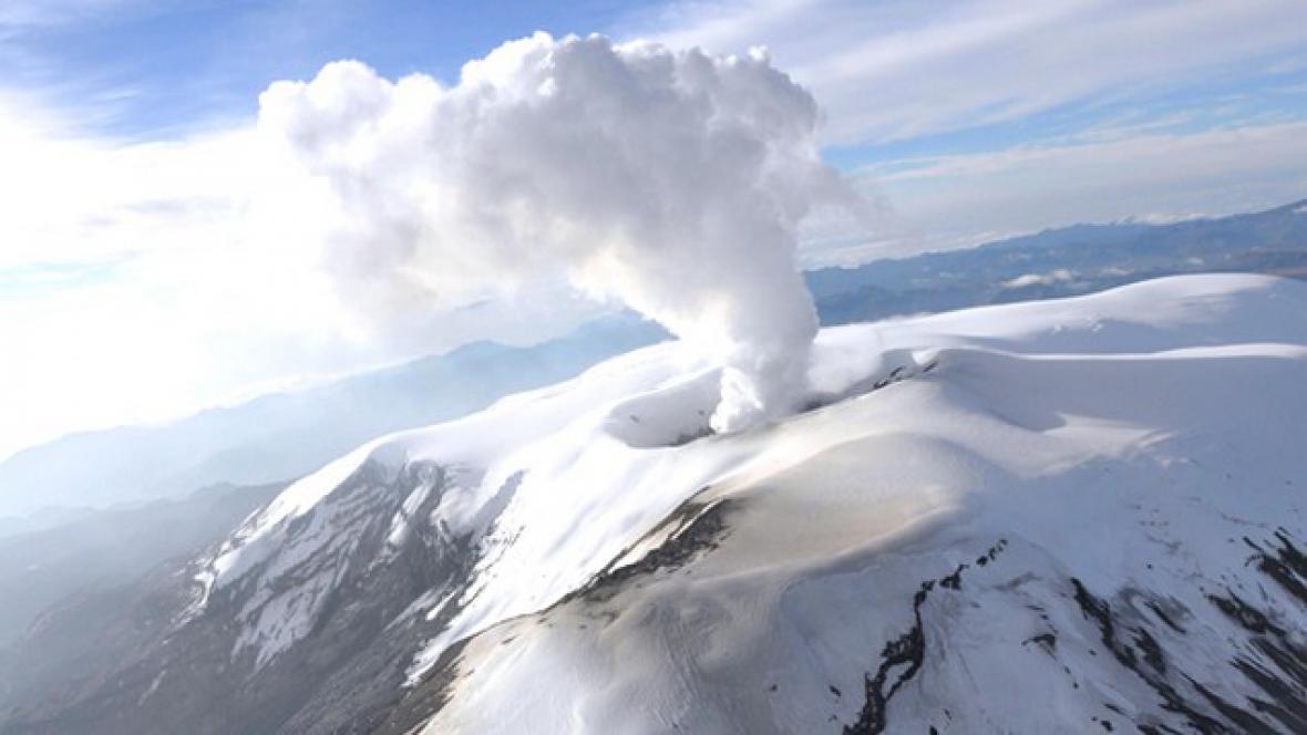 Sopka Nevado del Ruiz