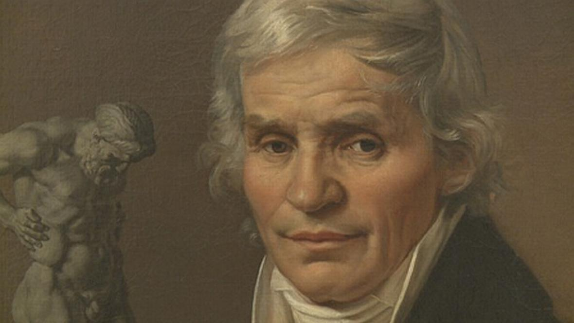 Antonín Machek / Podobizna sochaře Josefa Malinského (detail)