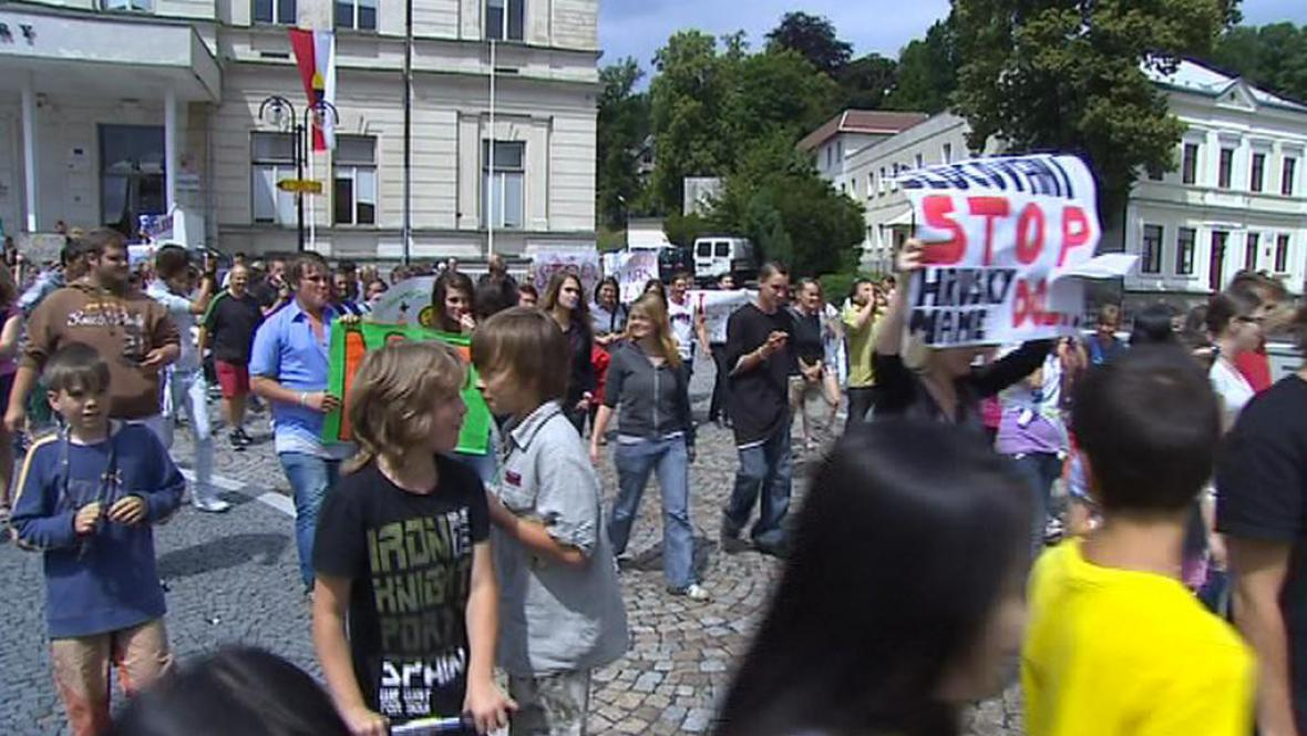 Protestující studenti