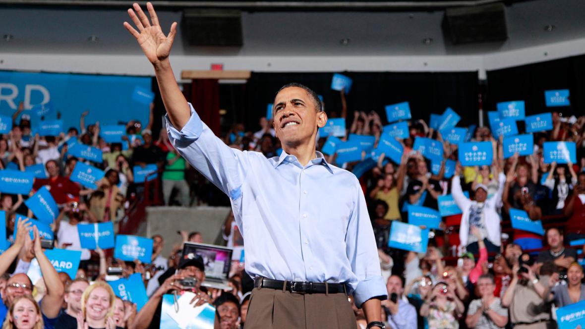 Barack Obama na mítinku v Ohiu