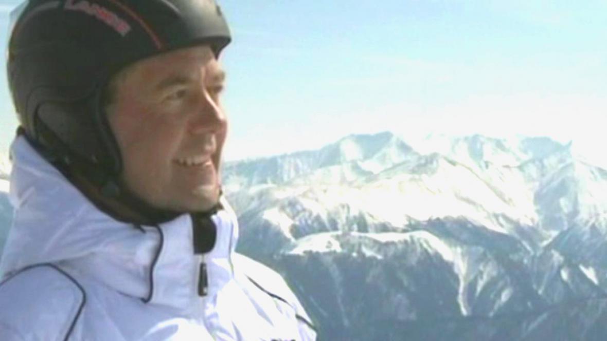 Ruský premiér Dmitrij Medvěděv na Kavkazu
