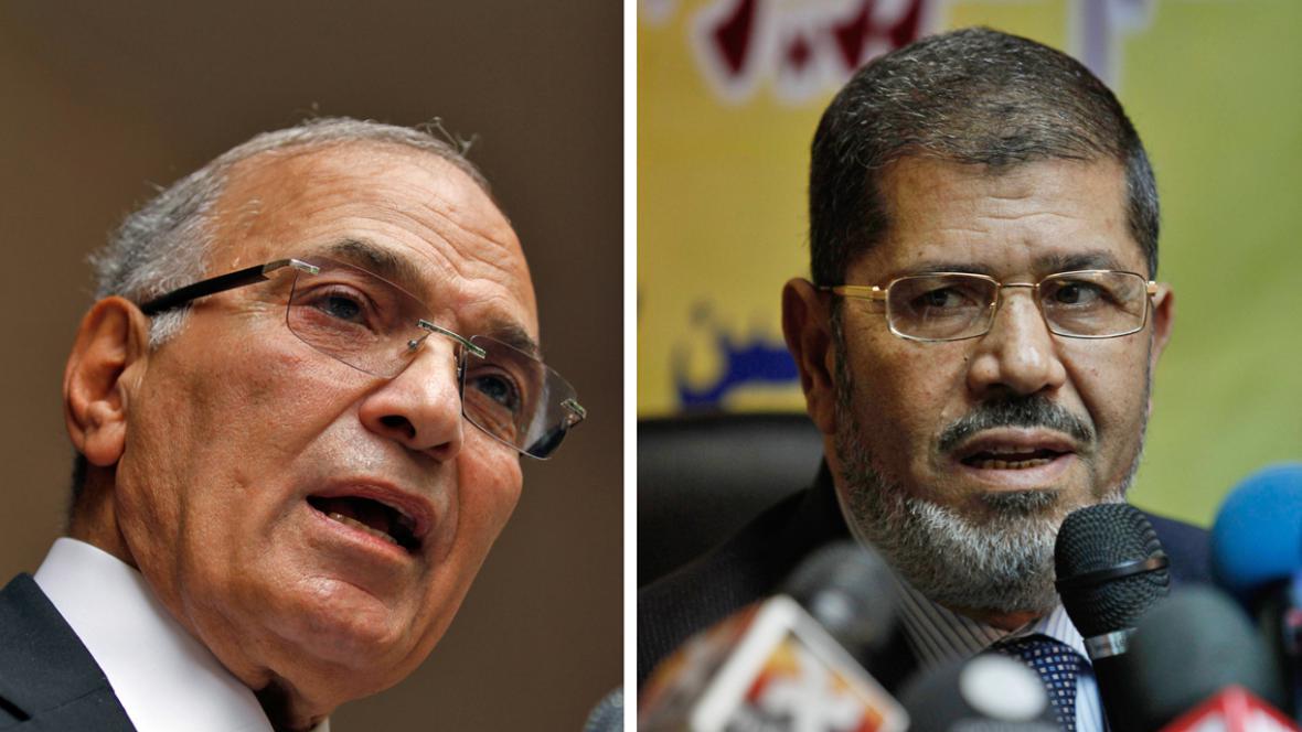 Ahmad Šafík a Muhammad Mursí