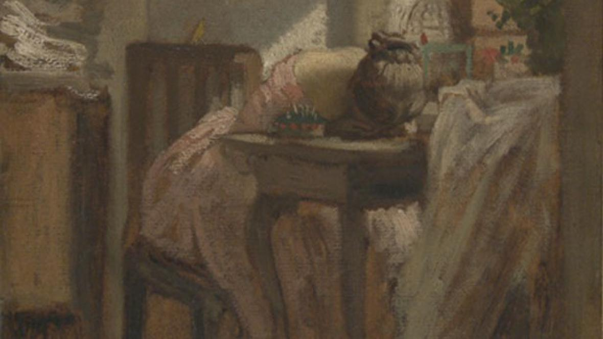 Josef Mánes / Švadlenka (detail)