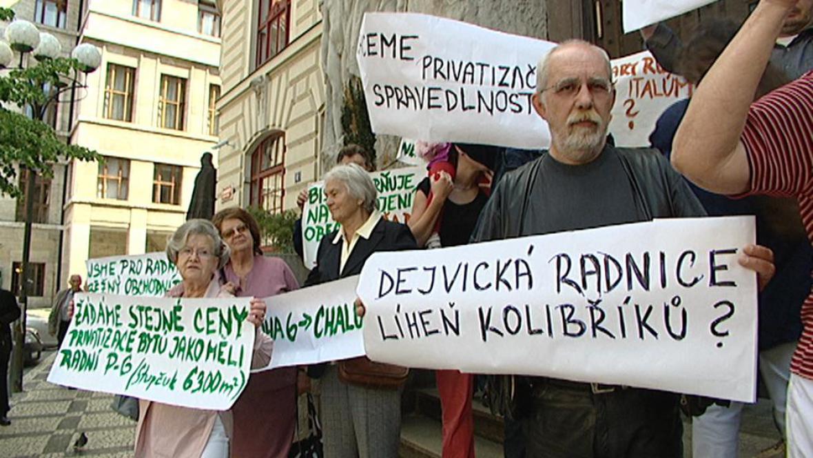 Protest obyvatel Prahy 6