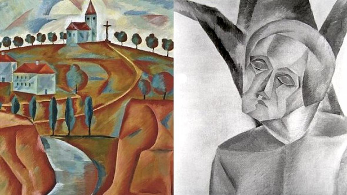 Jindřich Štýrský / Kostel na kopci (Sv. Šebestián) - (1921)