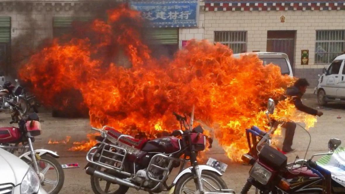 Hořící Tibeťané