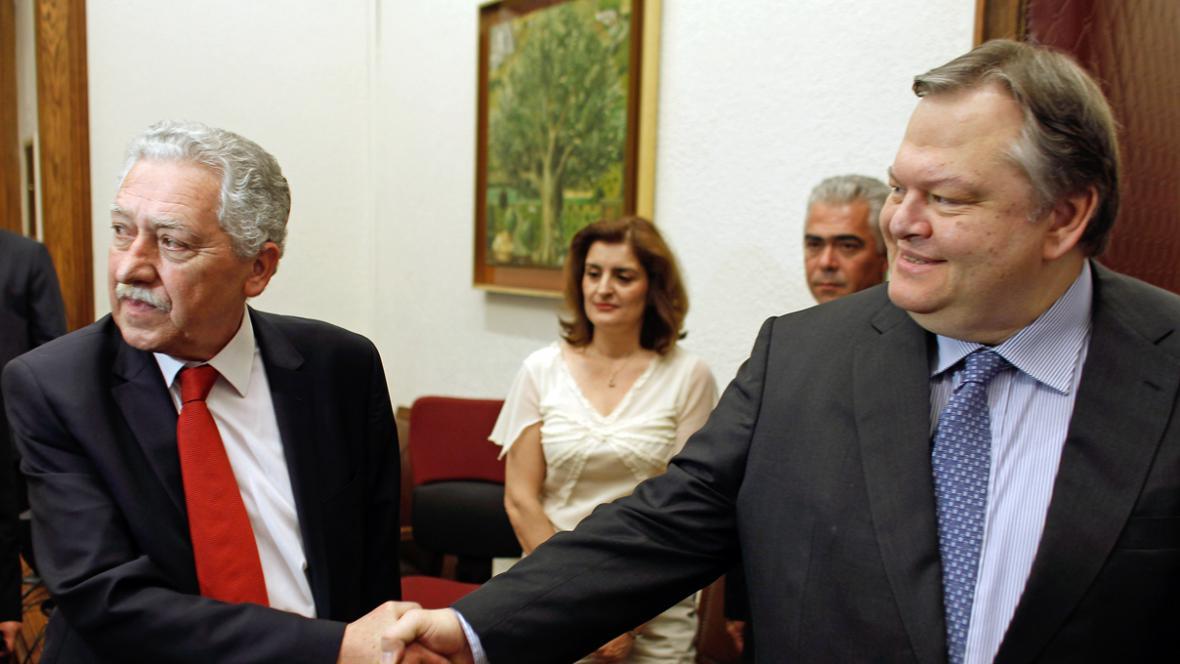 Fotis Kuvelis a Evangelos Venizelos