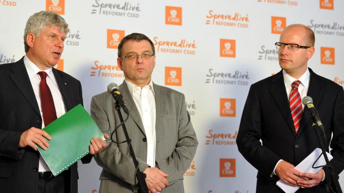 Martin Starec, Lubomír Zaorálek a Bohuslav Sobotka