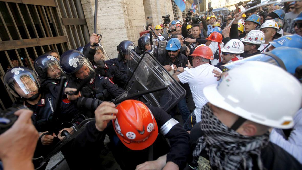 Protesty v Itálii
