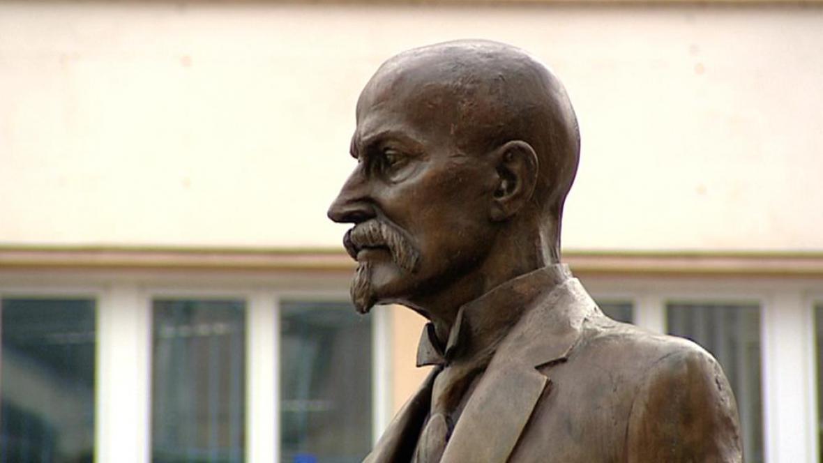 Socha T. G. Masaryka v Karlových Varech