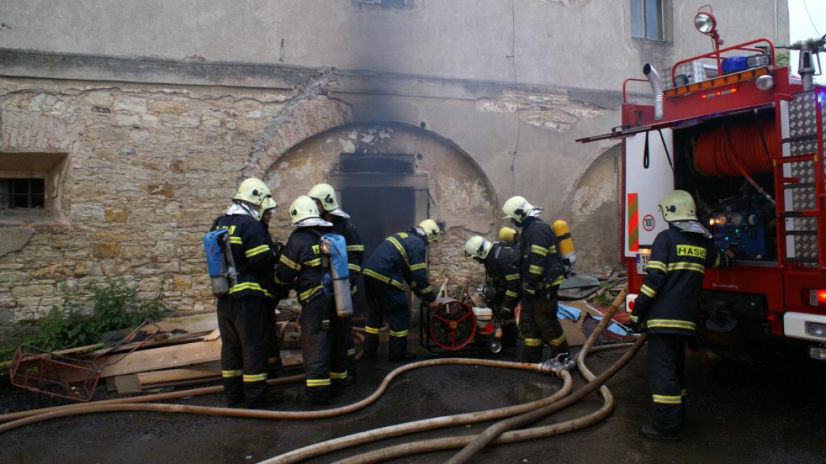 Požár v Jinočanech