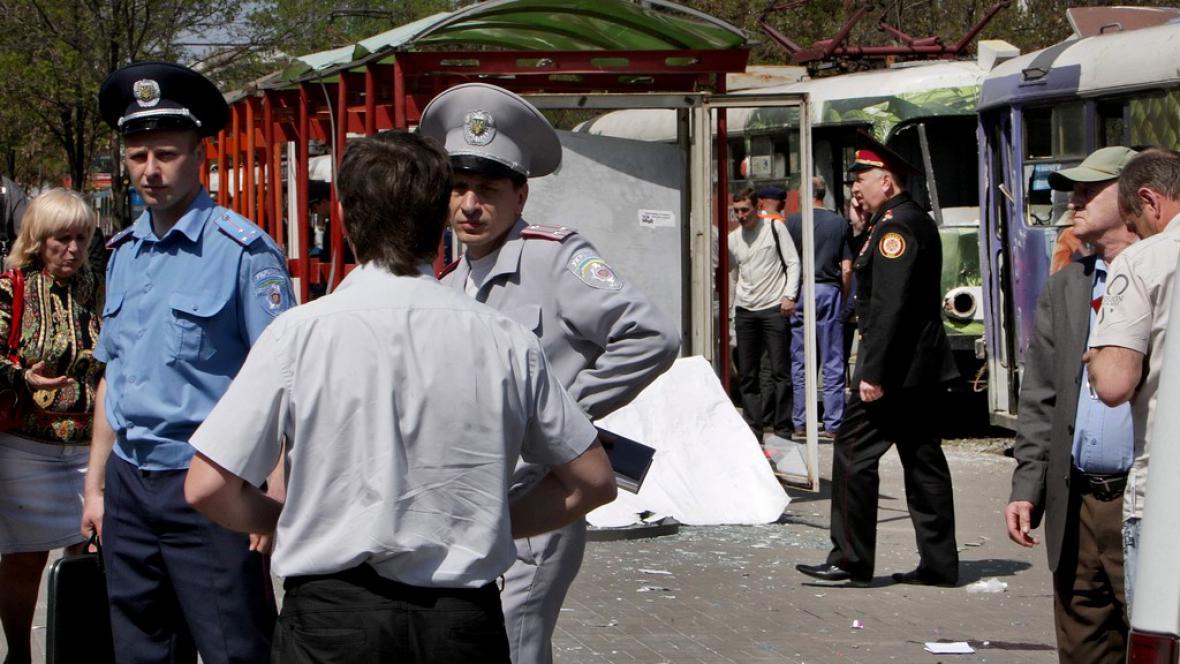 Policie v Dněpropetrovsku