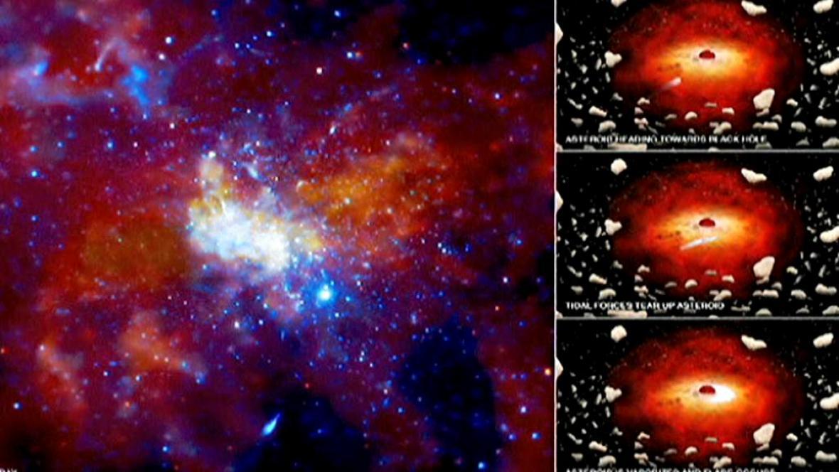 Černá díra vytváří záři