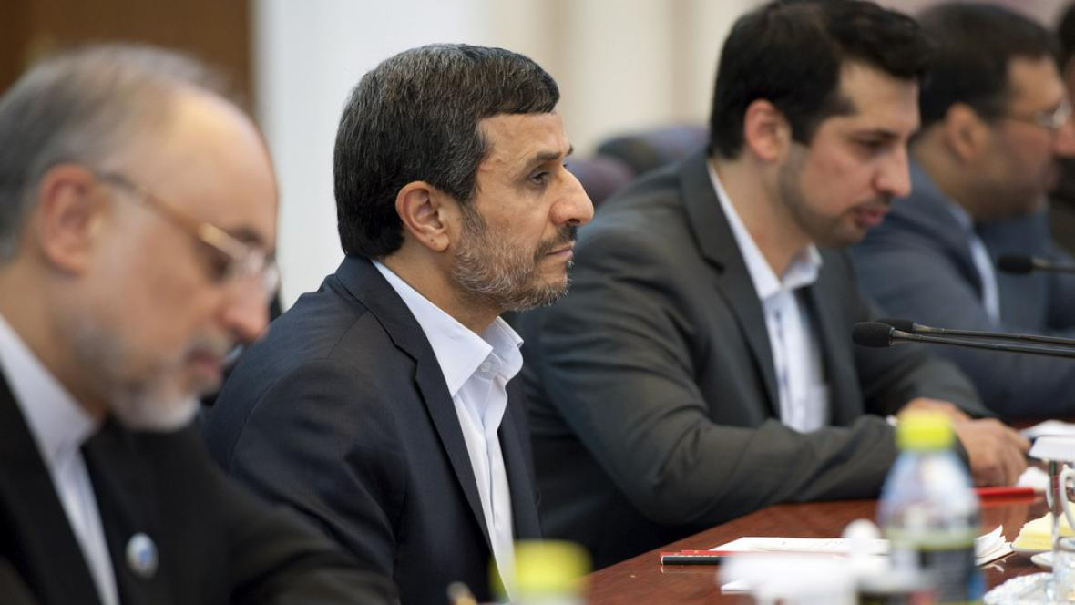 Mahmúd Ahmadínežád v Číně