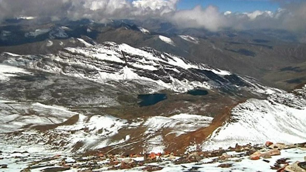 Tání ledovců v Bolívii