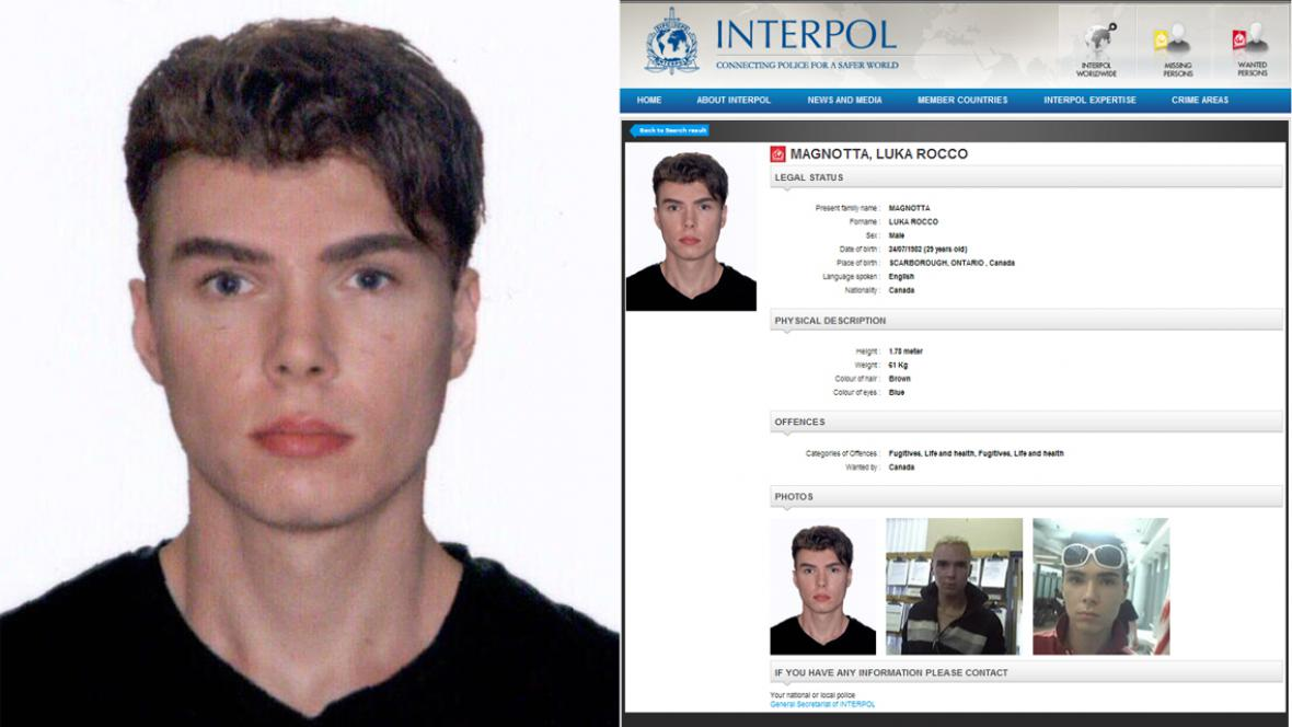 Luka Rocca Magnottu hledal Interpol