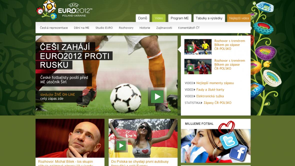 Webový speciál k fotbalovému Euru