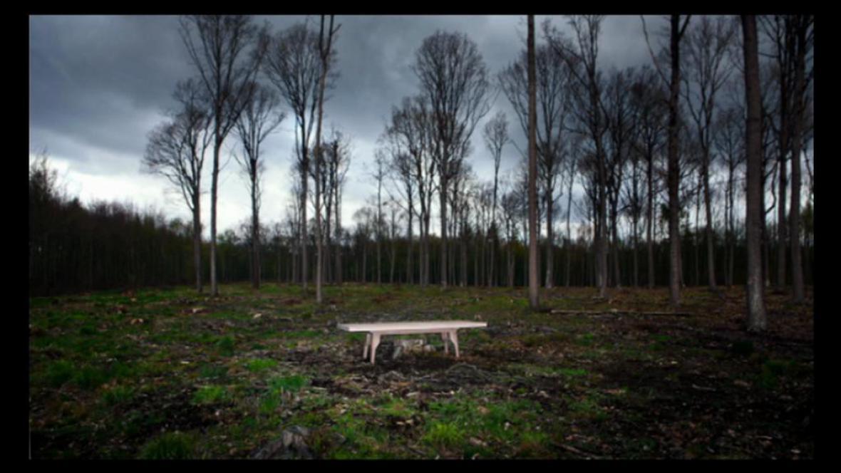 Stůl, který byl stromem, na fotografii Václava Jiráska