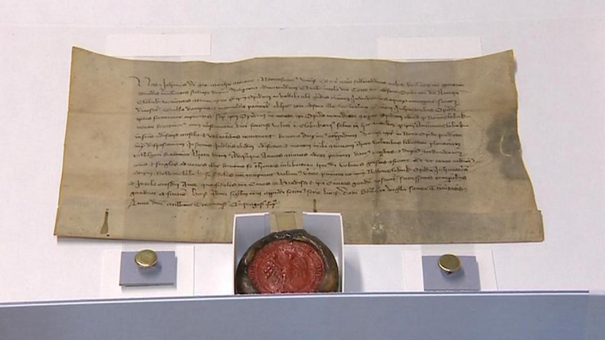 Zrestaurovaný pergamen